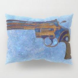 Colt Python 357 Magnum on Blue Back Ground Pillow Sham