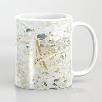 starfish Mugs featuring Starfish by Monika Strigel