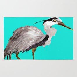 Turquoise Heron Rug