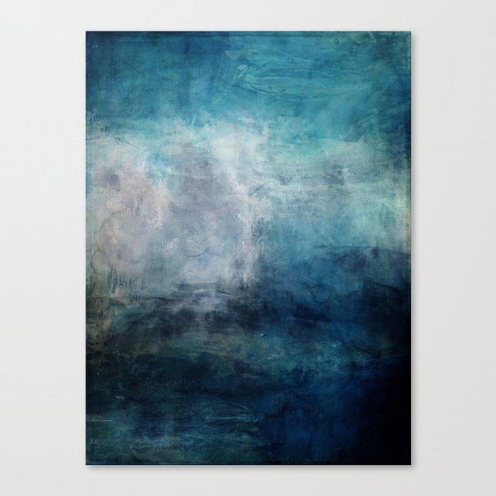 Beach in Blue Canvas Print