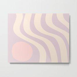Soft Lavender Waves Metal Print