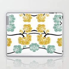 Teal and Yellow Flowers Laptop & iPad Skin