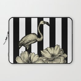 Stripe Flamingo Laptop Sleeve