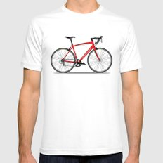 Specialized Racing Road Bike White MEDIUM Mens Fitted Tee