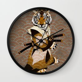 Tiger Samurai Ronin Wall Clock