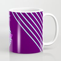 workout Mugs featuring Fusion Workout  by Celeste Pille