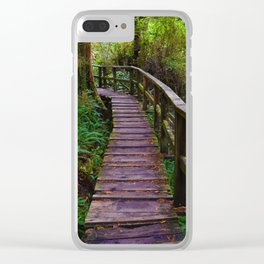 Walks through the Rainforest on Vancouver Island, Canada Clear iPhone Case