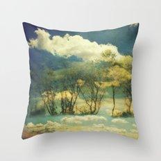 Summer Clouds Throw Pillow