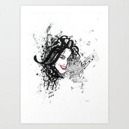 Musician Typographic Portrait Art Print