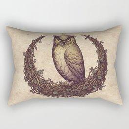 Owl Hedera Moon Rectangular Pillow
