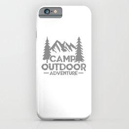 Camp Outdoor Adventure si iPhone Case