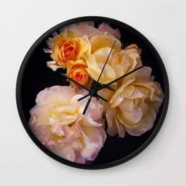 Glass House Roses Wall Clock