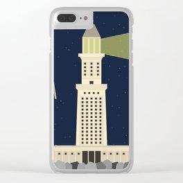 World Wonder: Lighthouse of Alexandria Clear iPhone Case