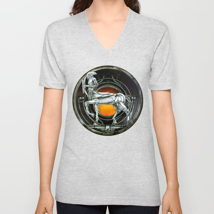 """Astrological Mechanism - Sagittarius"" Unisex V-Neck"