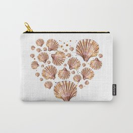 Heart of sea shells Carry-All Pouch