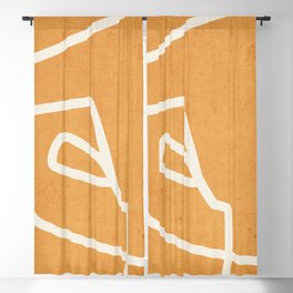 abstract minimal 57 Yellow Blackout Curtain