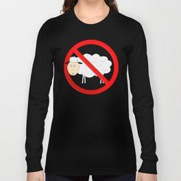 Sheep Not Allowed Sign Long Sleeve T-shirt