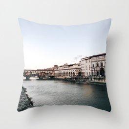 Ponte Vecchio in Florence Throw Pillow