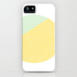 Retro Mod Flower #2 by Friztin iPhone Case