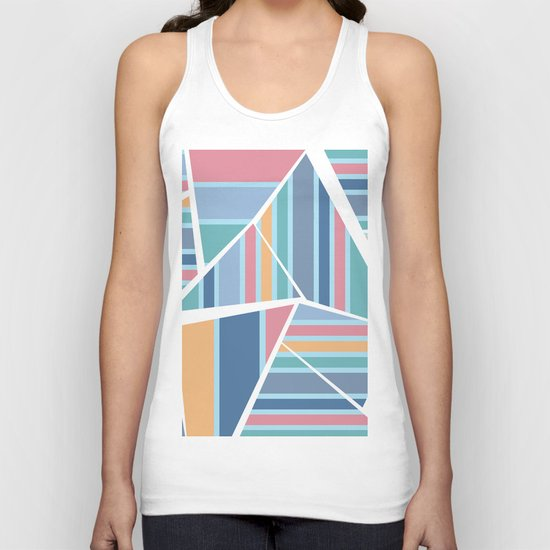 CRAZY STRIPES (abstract pattern) Unisex Tank Top