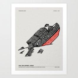 LOAD OF SCRAP Art Print