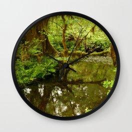 Rainforest Reflection Wall Clock