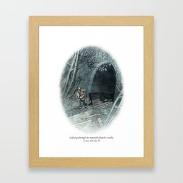 Behind You 15 Framed Art Print