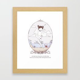 ee cummings - Molly Framed Art Print
