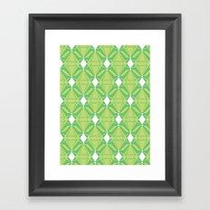 Abstract [GREEN] Emeralds Framed Art Print
