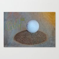 golf Canvas Prints featuring Golf by LoRo  Art & Pictures