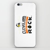 cleveland iPhone & iPod Skins featuring Cleveland Rocks by Alex McClelland