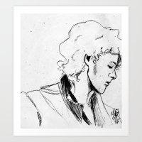 enjolras Art Prints featuring Enjolras by Pruoviare