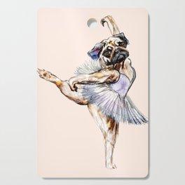 Pug Ballerina in Dog Ballet | Swan Lake  Cutting Board