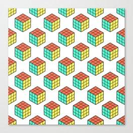 Rubiks Cube Pattern Canvas Print