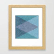 the blue triangles Framed Art Print