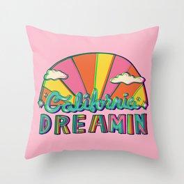 California Dreamin' in 3D Throw Pillow