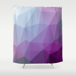 Shades Of Purple Triangle Abstract Shower Curtain