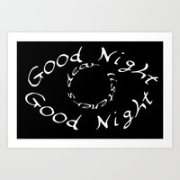 wtnv Art Prints featuring Good night eye by mystmoon
