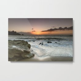 Sunset Over the Rocks Metal Print