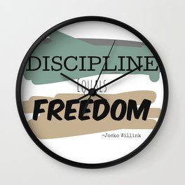 Discipline Equals Freedom, Jocko Willink Wall Clock