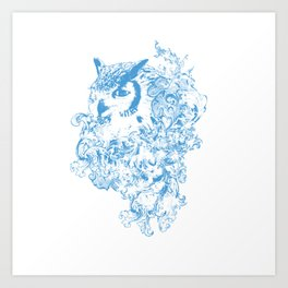 THE OBSCURE OWL Art Print