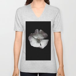 A delicate and sheer rosehip. Unisex V-Neck