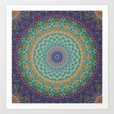 Travel Into Dimensions Mandala. Art Print