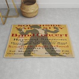 Vintage poster - Southside Varsity Band Concert Rug
