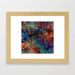 Rainbow Galaxy Framed Art Print