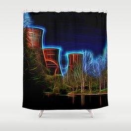 Digital Art Ironbridge Power Station Shower Curtain