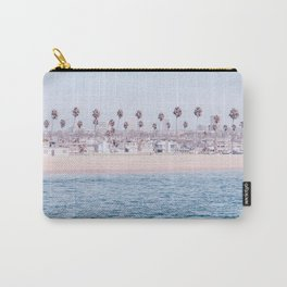 Vintage Newport Beach Print {3 of 4} | Photography Ocean Palm Trees Cool Blue Tropical Summer Sky Carry-All Pouch
