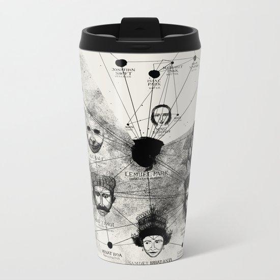 Ancient Faces Infographic Journey Metal Travel Mug