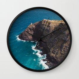 Makapuu Point Lighthouse, Oahu Hawaii Wall Clock