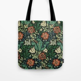 William Morris Compton Floral Art Nouveau Pattern Tote Bag
